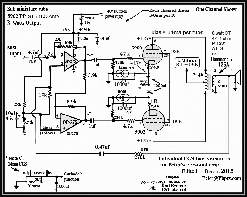 el84 amplifier schematic